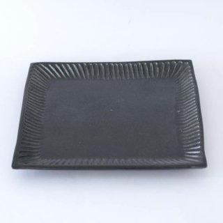 TANBA STYLE Squar Plate L BLK 丹波焼 タンバスタイル