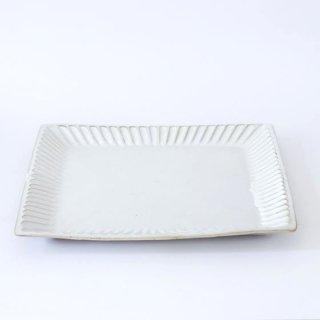 TANBA STYLE Squar Plate L WHT 丹波焼 タンバスタイル