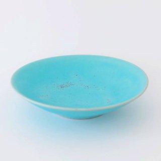 和田山真央 6寸浅鉢 トルコブルー
