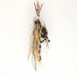 上原倫子 ブラックベリーとミモザのスワッグ(M) 花のある暮らし