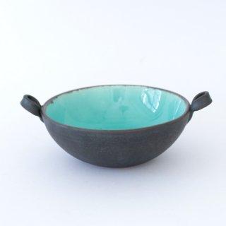 丹波焼 雅峰窯 スープ碗 青