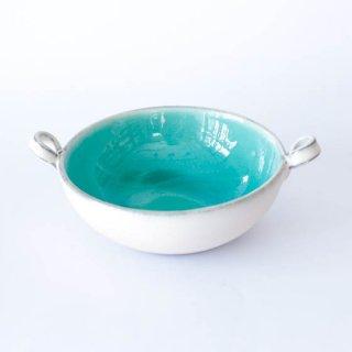 丹波焼 雅峰窯 スープ碗 トルコブルー
