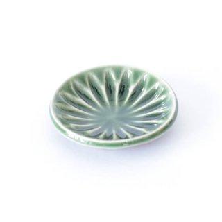 丹波焼 雅峰窯 豆皿 緑