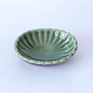 丹波焼 雅峰窯 たまり小皿 緑