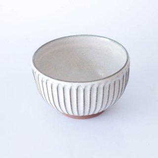 丹波焼 雅峰窯 4寸しのぎ碗 白