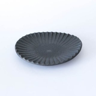 丹波焼 雅峰窯 楕円小皿 黒