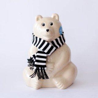 Polar Bear Money BOX(白くまの貯金箱)2020年秋冬限定 マフラー付き