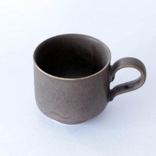 和田山真央 微細結晶黒釉コーヒーカップ