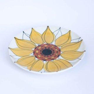 ARABIA Hilkka Lisa Ahola HLA aurinkoruusu 19.5cm ひまわりプレート