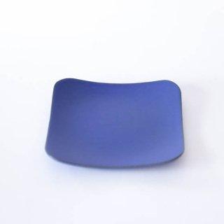 丹波焼 市野大輔 雅峰窯 角皿L 青紫