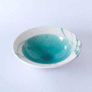 丹波焼 雅峰窯 市野健太 トルコブルーリム鉢 6寸