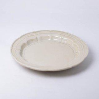 灰釉輪花皿M 15cm 樋山真弓