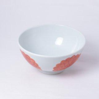 赤絵ぼたん飯碗(大) 樋山真弓