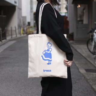 irma イヤマ オーガニックコットン トートバッグ【blue】