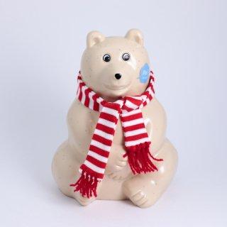 Polar Bear Money BOX(白くまの貯金箱)2021年秋冬限定 マフラー付き