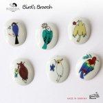 kutani seal bird's brooch 小鳥のブローチ