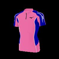 spu52(上) MIZUNOレーシングシャツ青ピンク半袖