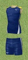 Spu54(上) MIZUNOレーシングシャツ青黄色ノースリーブ