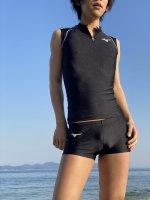 【即納】Spu58(上) MIZUNOレーシングシャツ黒ノースリーブ