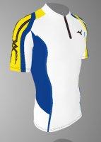 【予約5月末納期】spu64(上) MIZUNOレーシングシャツ白青黄色半袖