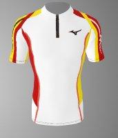 【予約5月末納期】spu68(上) MIZUNOレーシングシャツ白青黄色半袖
