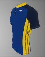 【予約2ヶ月後納期】spu77(上) MIZUNOレーシングシャツ青黄色半袖