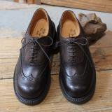 QUILP SHOES Two Tone Full Brogue Espresso Scotch Grain×Shrunk Grain
