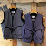 MONITALY Fur Lined String Vest Vancloth Charcoal / Navy
