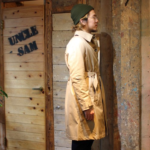* HERVIER PRODUCTIONS French motorcycle coat Beige