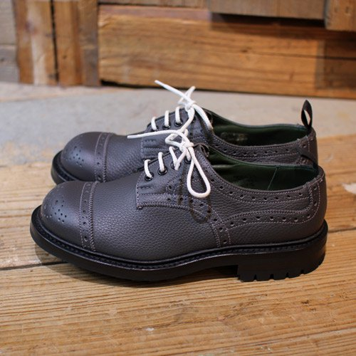 Quilp by Tricker's * Toe Cap Derby Brogue Shoe