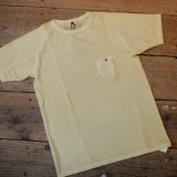 NIGEL CABOURN Basic Tee(pigment dye) Yellow