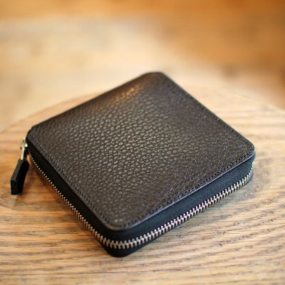 Foot the coacher * SQUARE WALLET Black / Silver