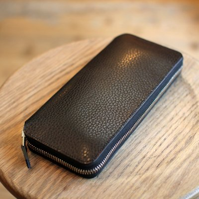Foot the coacher * LONG ZIP WALLET Black / Silver