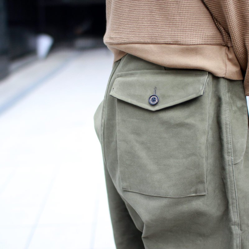 Quilp * Thompson -OVER TROUSER- Moleskin Olive / Gold