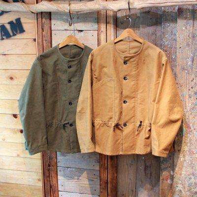 Quilp * Bradbury - Double Front Jacket - Moleskin Olive / Gold