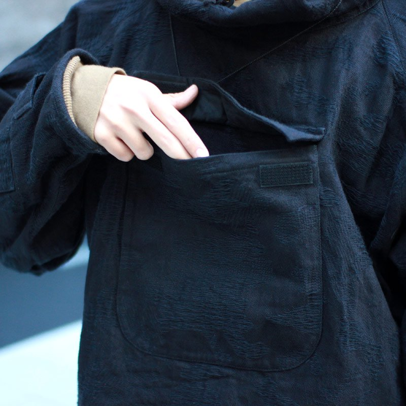Quilp * Morello -Pull Over Parka- Black Camouflage