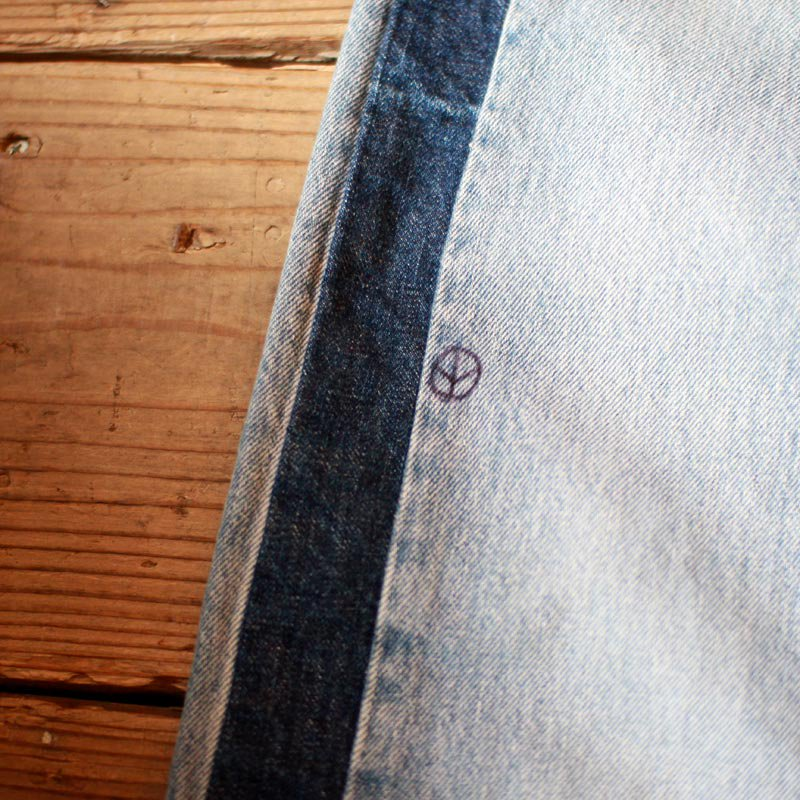 Sunny Side Up * Side Line Denim Pants Blue