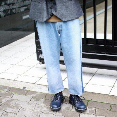 Sunny Side Up * Side Line Denim Pants Blue