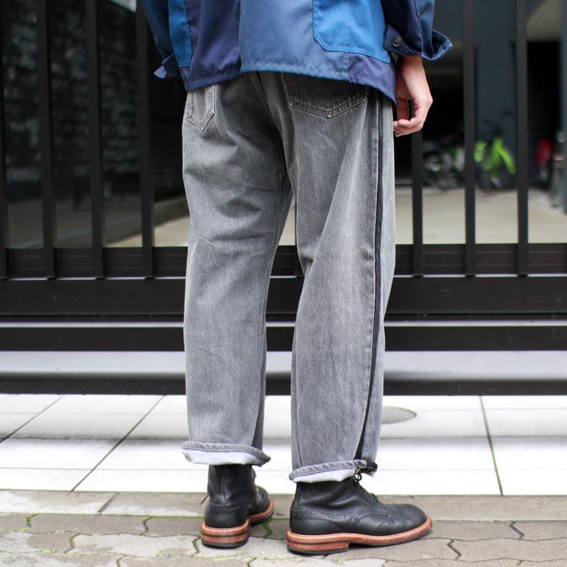 Sunny Side Up * Side Line Denim Pants Black