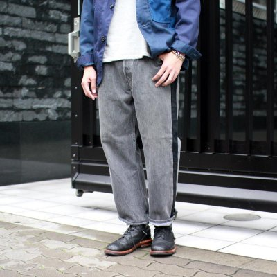 Sunny Side Up * Side Line Denim Pants Black