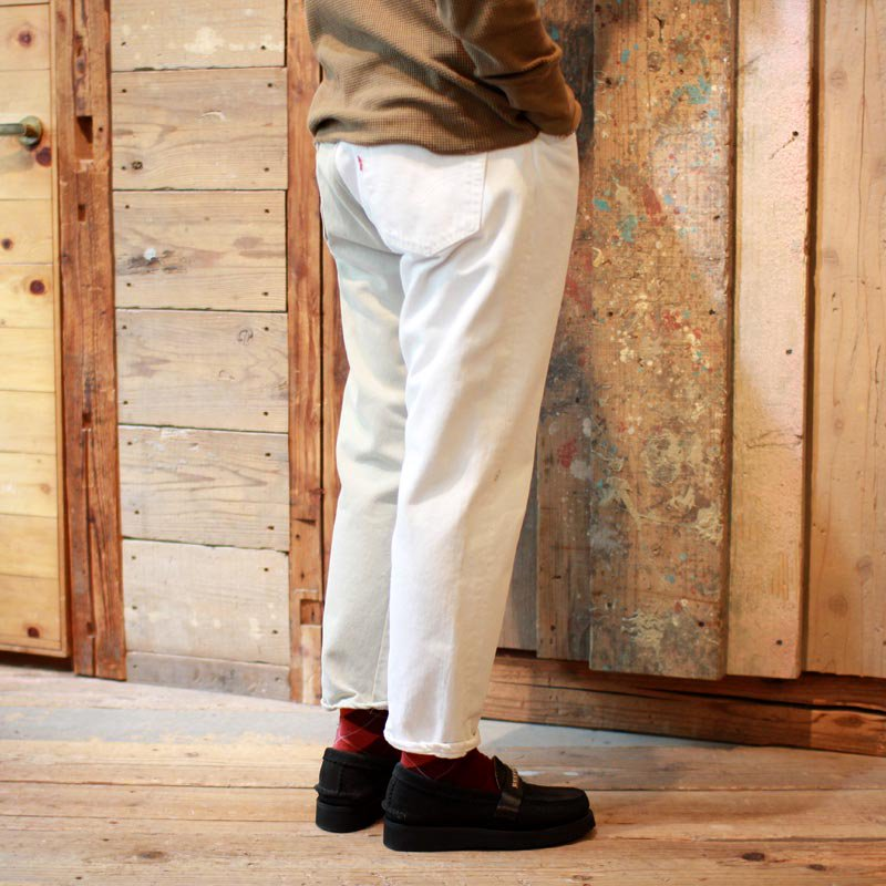 Sunny Side Up * Remake 2 for 1 Denim 5P pants / White