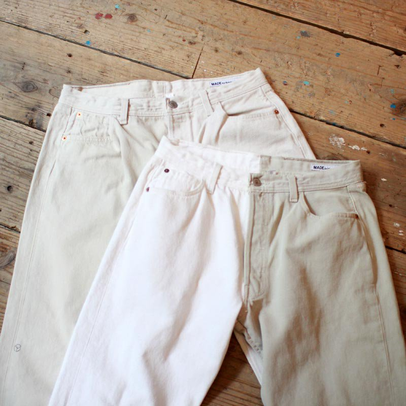Sunny Side Up * Remake 2 for 1 Denim 5P pants / White