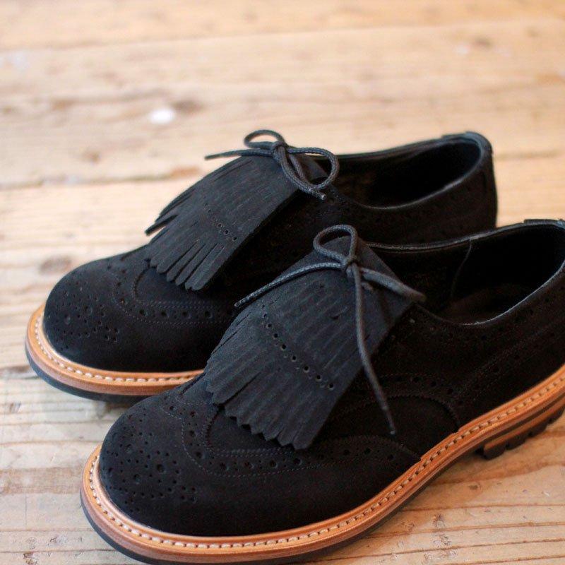 Quilp by Tricker's * Kiltie tongue Derby brogue shoe / Black -UNCLE SAM Special-