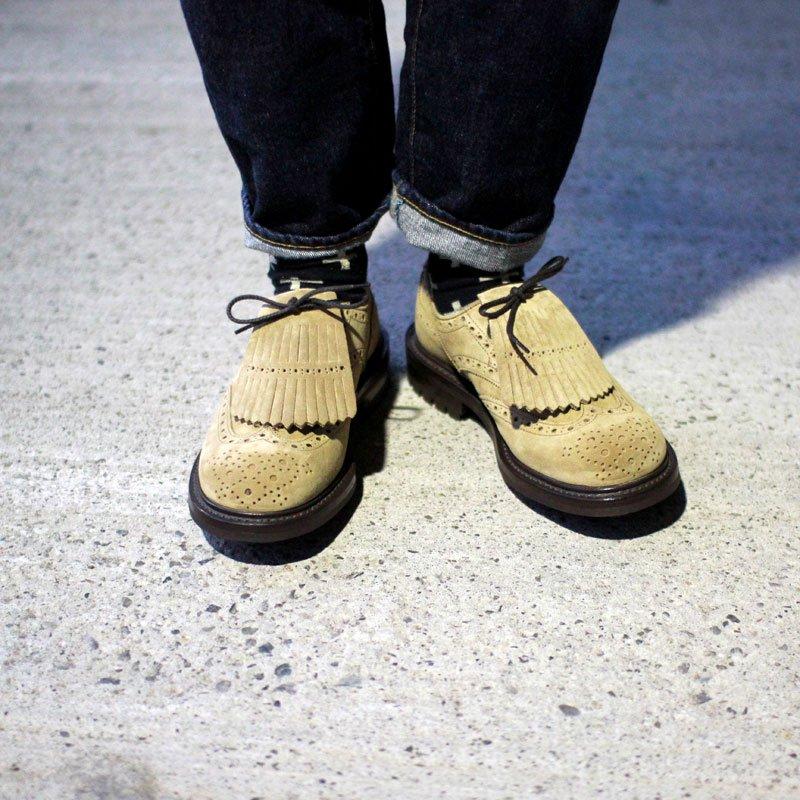Quilp by Tricker's * Kiltie tongue Derby brogue shoe / Gaucho -UNCLE SAM Special-