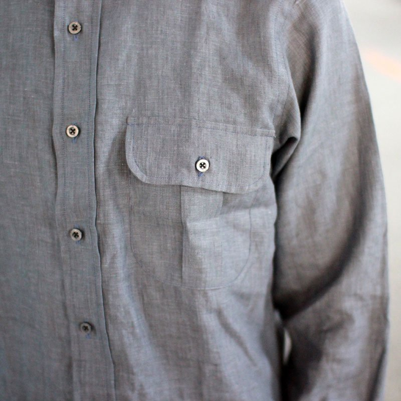 INDIVIDUALIZED SHIRTS  * Linen Shirt / Gray -UNCLE SAM Special-
