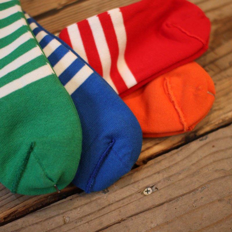 decka quality socks * Reversible short socks / plain×stripes