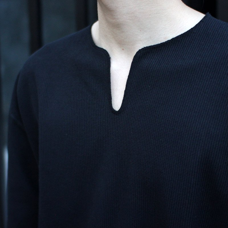 blurhms ROOTSTOCK * Rough&Smooth Thermal Loose Fit Over-Neck L/S
