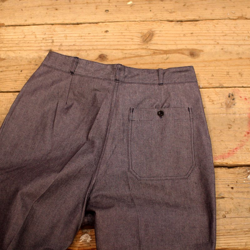 DEADSTOCK * French Navy / Denim Trousers