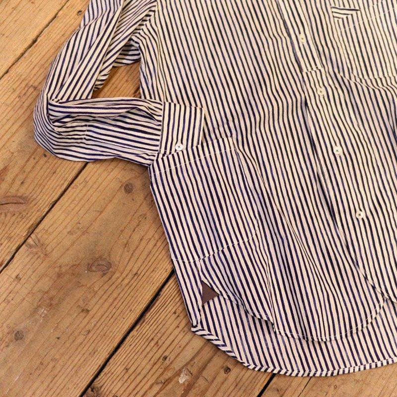 FUNSET OF ART * Stripe W Change Collar Shirts