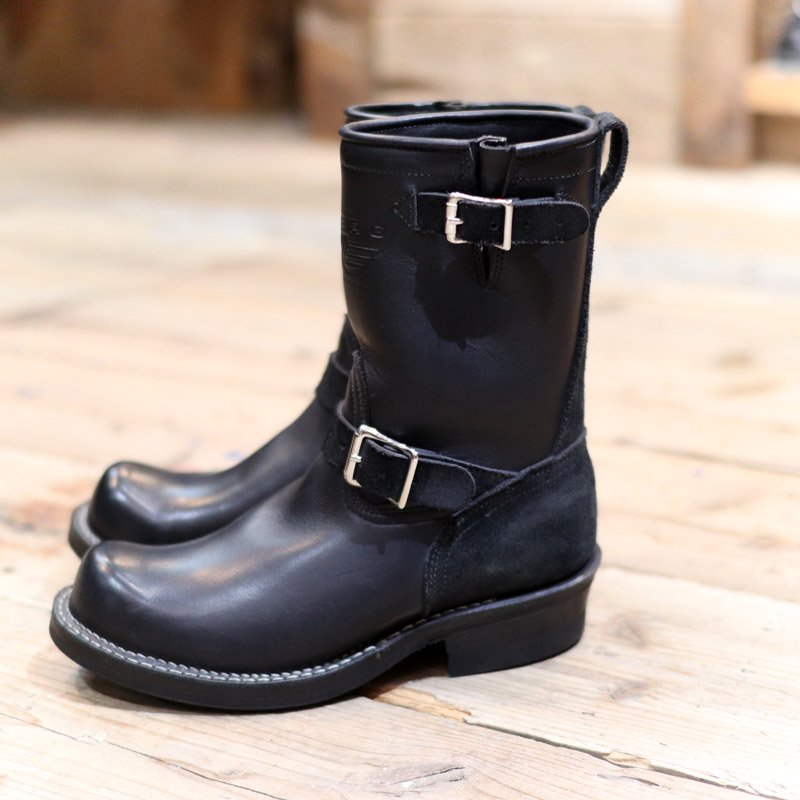 VIBERG BOOT * 9inch Engineer Boots -Black Smooth & Roughout-